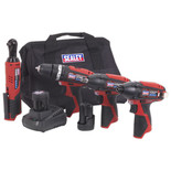 Sealey CP1200COMBO CP1200 Series 4 x 12V Cordless Power Tool Combo Kit