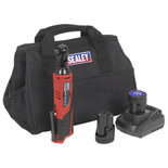 "Sealey CP1202KIT 12V  3/8"" Drive Ratchet Wrench Kit - 2 x 1.5Ah Batteries & Charger"