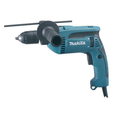 Photo of Makita makita hp1641k 13mm percussion drill with keyless chuck -230v-