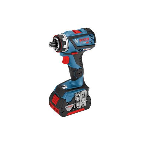 Image of Bosch Bosch GSR 18 V-60 FCC 18V Flexiclick Drill Driver (Bare Unit) L-BOXX + Chuck and Hammer Attachment