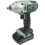 "Kielder KWT-002-12 3/8"" Drive 18V Brushless Impact Wrench and 2x1.5Ah Batteries"
