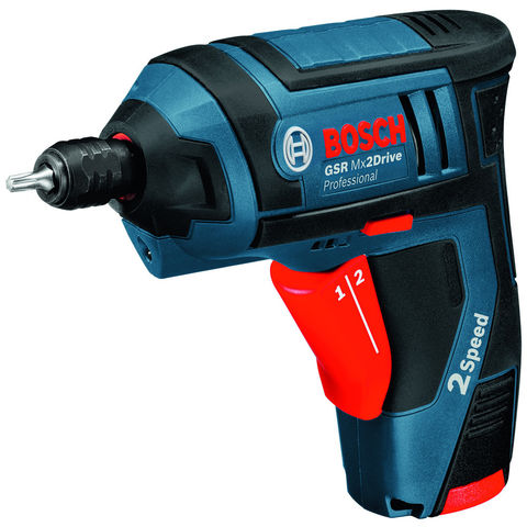 bosch gsr mx2drive 3 6v li ion professional cordless screwdriver with 2x1 3 ah li ion batteries. Black Bedroom Furniture Sets. Home Design Ideas