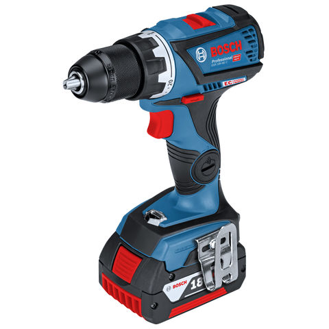Image of Bosch Bosch GSB 18 V-60 C Professional 18V Combi Drill/Driver with 2x5.0Ah Batteries and L-BOXX