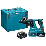 Makita DHR242RMJ 18V LXT BL SDS+ Rotary Hammer Drill with 2 x 4Ah Batteries