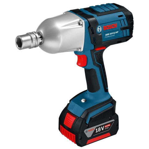 Image of Bosch Bosch GDS 18 V-LI HT Professional 18V Impact Wrench (2 x 5.0 Ah Batteries, GAL 1880 CV Charger in a L-BOXX)