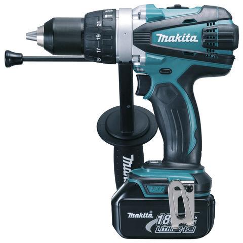 Image of Makita Makita DHP458RF3J 18V LXT Li-Ion Cordless Hammer Drill/Driver with 3 x 3Ah Batteries