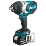 "Makita DTW1002RTJ 18V LXT BL Brushless Cordless 3-Speed 1/2"" (12.7mm) 1,000Nm (740 ft.lbs.) Impact Wrench with 2 x 5.0Ah batteries"