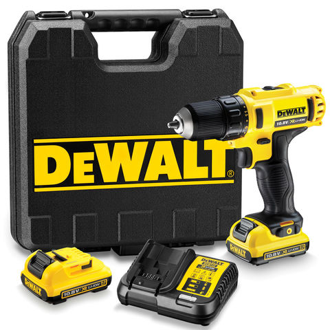 Image of Machine Mart Xtra DeWalt DCD710D2 10.8V XR Li-Ion Compact Drill/Driver with 2 x 2Ah Batteries