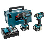 Makita 18V LXT Li-Ion 13mm 54Nm Hammer Driver Drill & 165Nm Impact Driver Cordless Twin Pack
