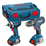 Bosch GSB & GDR 18V Twinpack with 2 x 4.0Ah Batteries