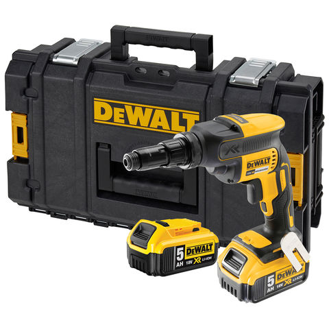 Image of DeWalt DeWalt DCF622P2-GB 18V XR Self Drilling Screwdriver with 2x 5.0Ah Li-Ion Batteries