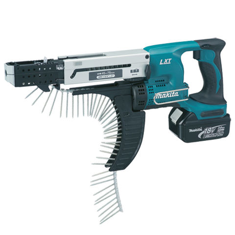 Image of Makita Makita DFR750RME 18V Auto Feed Screwdriver with 2x4.0Ah Batteries