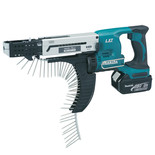 Makita DFR750RME 18V Auto Feed Screwdriver with 2x4.0Ah Batteries
