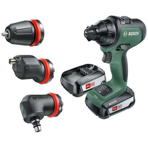 Image of Bosch Bosch AdvancedDrill 18 Cordless Drill Driver (1 x 2.5Ah, 3 attachment set)