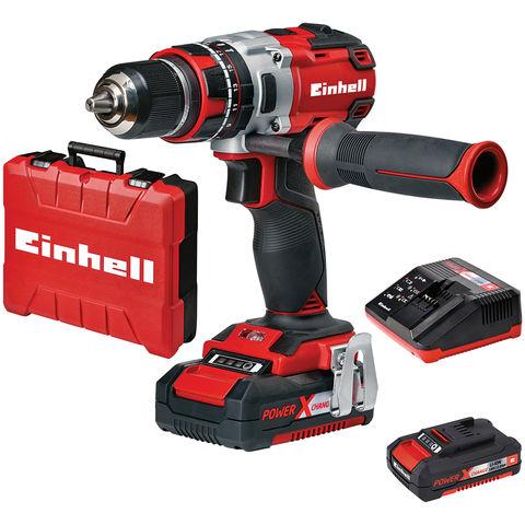Image of Einhell Power X-Change Einhell Power X-Change TE-CD 18 Li-i-BL Brushless Cordless Combi Drill Kit