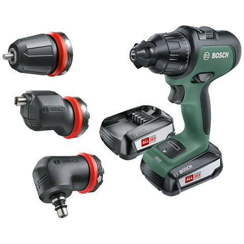Image of Bosch Bosch AdvancedImpact 18 Cordless Hammer Drill (2 x 2.5Ah, 3 attachment set)