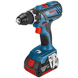 Bosch GSR 18 V-28 Professional DYNAMIC Series 18V Drill Driver with 2 x 5.0Ah Batteries, AL 1860 CV Charger in a L-BOXX