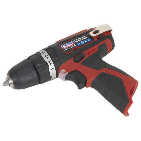 Sealey Sealey CP1201 Cordless Hammer Drill/Driver �10mm 12V Li-ion (Bare Unit)