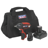 "Sealey CP1204KIT Impact Wrench Kit 3/8""Sq Drive 12V Li-ion - (2 Batteries, Charger & Bag)"