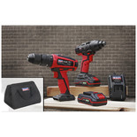 "Sealey CP20VDDCOMBO 20V Cordless Ø13mm Hammer Drill/1/4""Hex Drive Impact Driver Combo Kit"