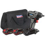 "Sealey CP20VIWXKIT Brushless Impact Wrench Kit 1/2""Sq Drive 20V 300Nm - (2 Batteries, Charger & Bag)"