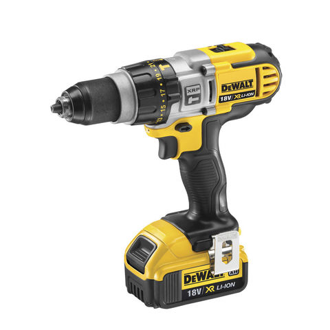 Image of DeWalt XR FlexVolt DeWalt DCD985M2-GB 18V XRP 3 Speed Li-Ion Hammer Drill Driver 2x4Ah Batteries