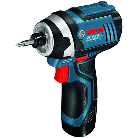 Image of Bosch Bosch GDR 12V-LI Professional Cordless Impact Driver With 2x2.0Ah Batteries