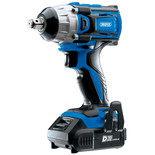 "Draper D20 20V Brushless 1/2"" Mid-Torque Impact Wrench with 2 x 2Ah Batteries and Charger (250Nm)"