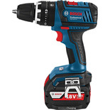 Bosch GSB & GDR 18V Wireless Twinpack Combi Drill & Impact Driver with 2x4.0Ah Batteries