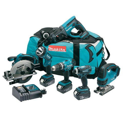 Image of Makita Makita DLX6017 6 Piece LXT 18V Li-Ion Cordless Combo Kit
