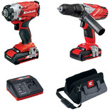 Einhell TE-CD/CI 18V Li-Ion Combi Drill/Impact Driver Twin Pack with 2x1.5Ah Batteries