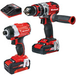 Einhell Power X-Change Combi Drill & Impact Driver Twinpack with 1 x 2.0Ah, 1 x 4.0Ah batteries
