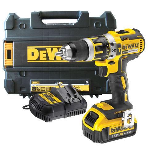 Image of DeWalt DeWalt DCD795M1 18V XR Compact Combi Drill with 1x4.0Ah Battery