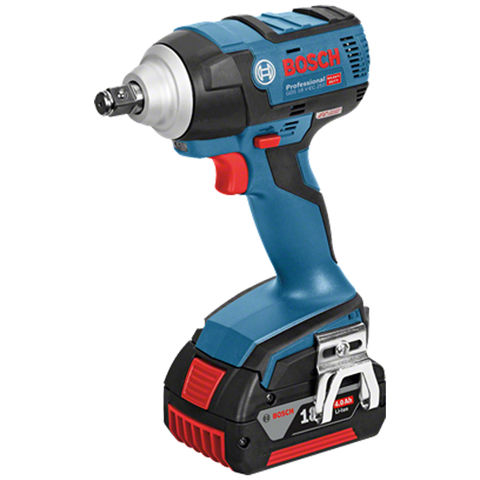 Image of Bosch Bosch GDS 18 V-EC 250 Professional Brushless 18V Impact Wrench (2 x 5.0Ah Batteries, GAL 1880 CV Charger in a L-BOXX)
