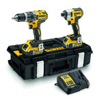 DeWalt DCK266P2 18V XR Impact Driver & Hammer Drill with 2x5.0Ah Batteries
