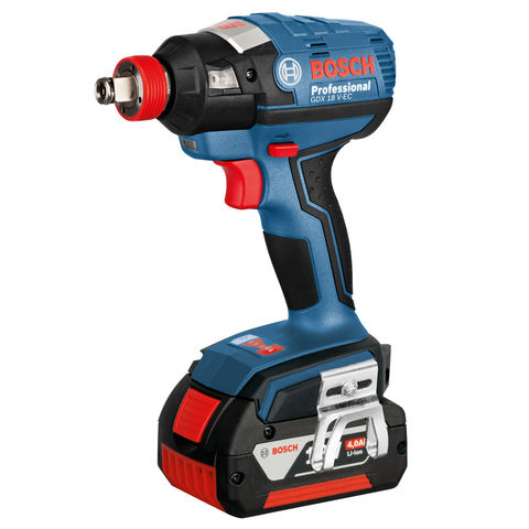 Image of Bosch Bosch GDX 18V-EC Cordless Impact Wrench with 2x4.0Ah Batteries