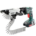 Metabo SE18LTX6000 + SM5-55 Cordless Drywall Screwdriver with 2x2.0Ah Batteries