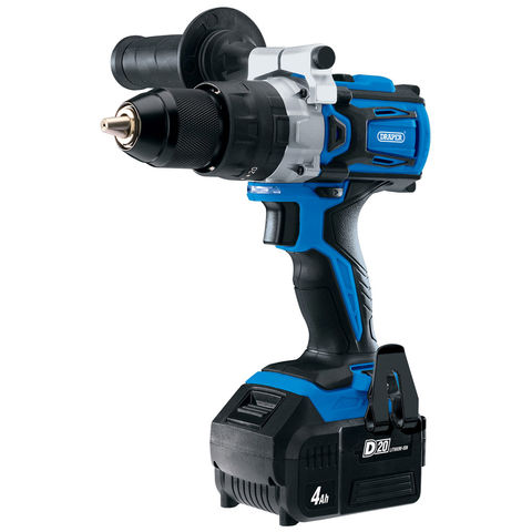 Image of Draper Draper D20CD60SET D20 20V Brushless Combi Drill with 4Ah Battery and Fast Charger