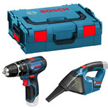 Bosch GSR 10.8-2-LI Twin Pack with 2x2.0Ah Batteries and L-BOXX