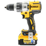 DeWalt DCD997P2B-GB 18V XR Brushless Tool Connect Premium Hammer Drill with 1 x 5Ah Battery