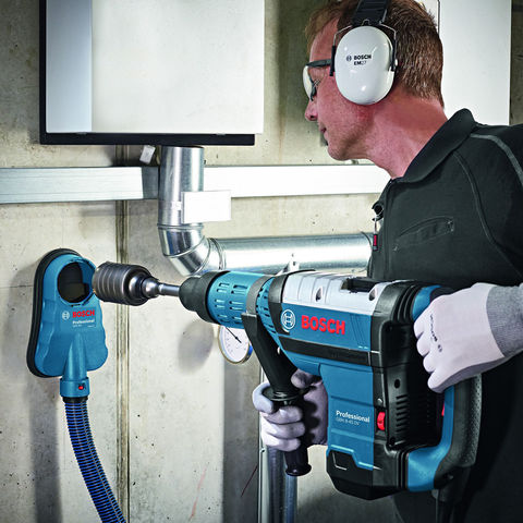Bosch GDE 162 Practical dust extraction for core cutters drilling tools