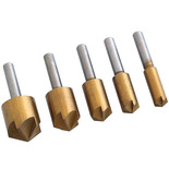 5 Piece Titanium Coated Countersink Bit Set