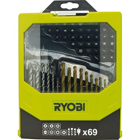 Image of Ryobi Ryobi RAK69MIX 69 Piece Mixed Drill and Driving Application Kit