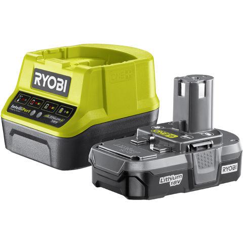 Image of Ryobi One+ Ryobi One+ RC18120-113 18V Cordless Lithium 1.3Ah Battery & Charger Kit