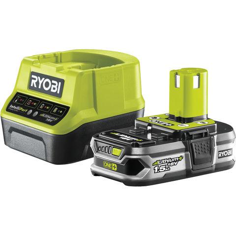 Image of Ryobi One+ Ryobi One+ RC18120-115 18V Cordless Lithium+ 1.5Ah Battery & Charger Kit