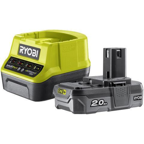 Image of Ryobi One+ Ryobi One+ RC18120-120 18V Cordless Lithium+ 2.0Ah Battery & Charger Kit