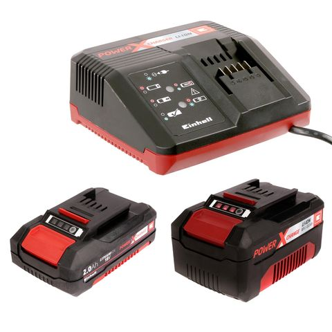 Image of Einhell Power X-Change Einhell Power X-Change 18V Starter Kit with 3Ah & 2.0Ah Batteries & Charger