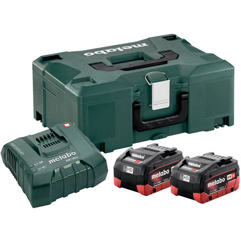 Image of Metabo Metabo 18V 2 x 5.5Ah LiHD Batteries and Charger Set