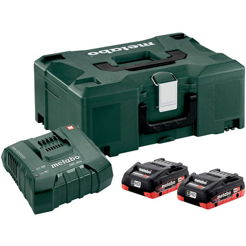 Image of Metabo Metabo 18V 2 x 4.0Ah LiHD Batteries and Charger Set