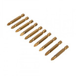 10 Piece 50mm Pozi #2 Titanium Coated Power Bits